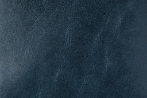 古い青い滑らかな革の質感の背景