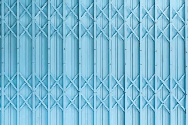 Old blue steel door texture pattern or steel door