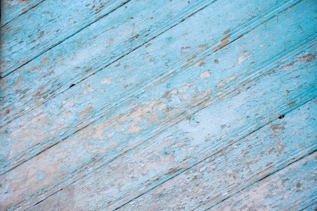 판자로 오래 된 푸른 나무 질감