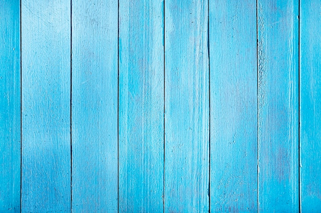 Old blue wooden plank. seamless horizontal texture of wooden planks placed vertically. the uniform color of the wooden fence.