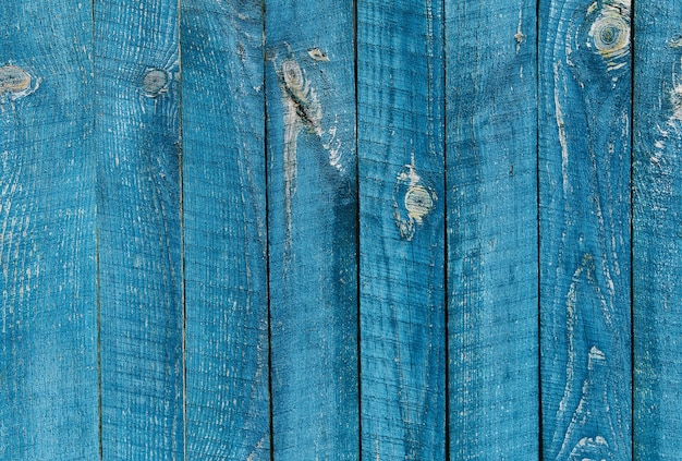 古い青い木の質感の背景。水平配置。