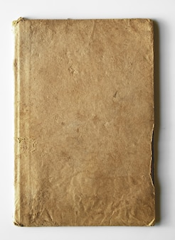 Old book, notebook on white background.