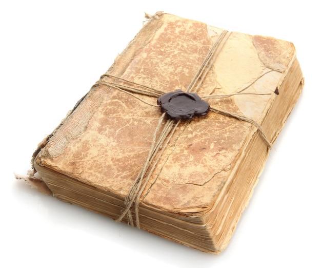 인감 왁 스와 함께 오래 된 책