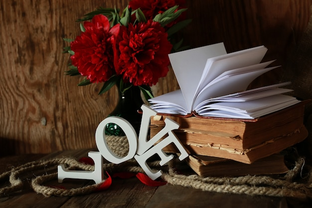 Old book and word love