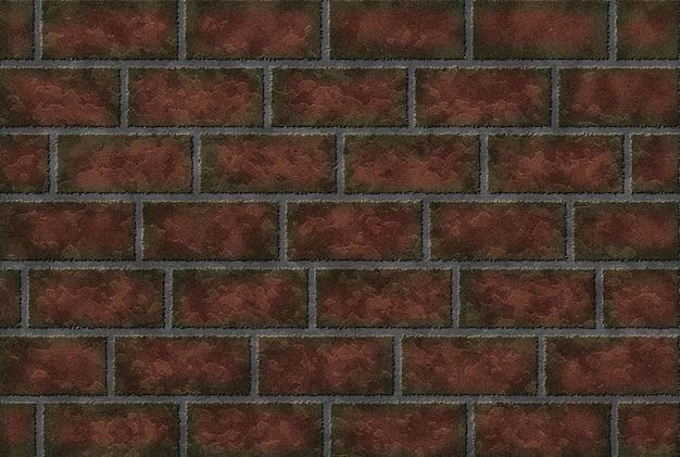 古いレンガの壁は赤茶色。レンガの背景