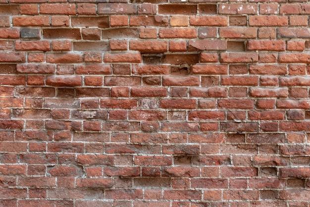 古いれんが造りの壁テクスチャ-ビルド、ファサード