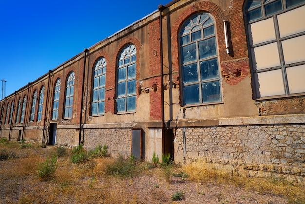 Old brickwall in puerto sagunto at valencia