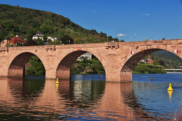 The old bridge in heidelberg, germany
