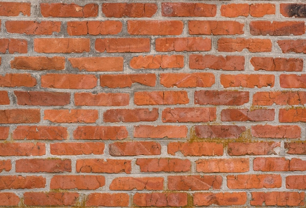 Old brown brick wall background