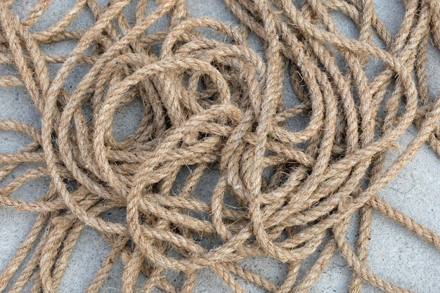 Old brown nylon rope background