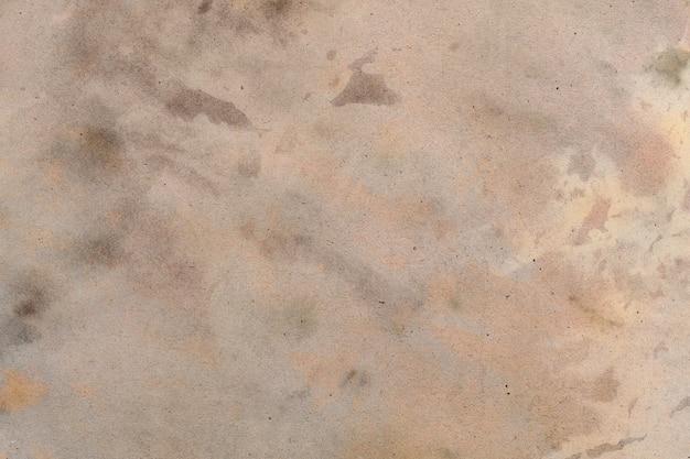 오래 된 갈색 종이 그런 지 배경. 추상 액체 커피 색상 질감입니다.