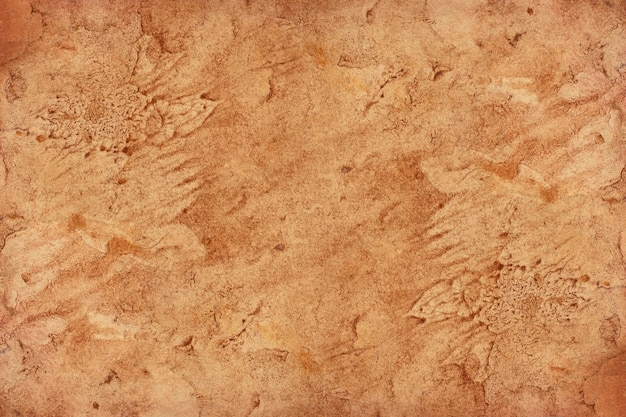Old brown paper grunge for surface. abstract liquid coffee color texture.