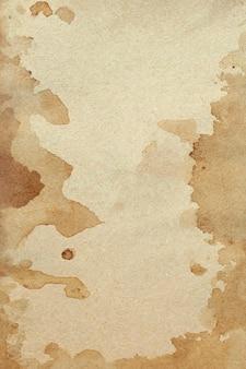 오래 된 갈색 종이 그런 지 벽. 추상 액체 커피 색상 질감입니다.