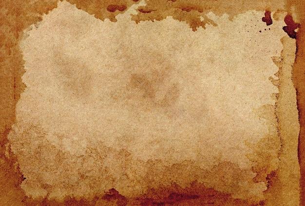 Старая стена гранж коричневой бумаги. абстрактная жидкая текстура цвета кофе.