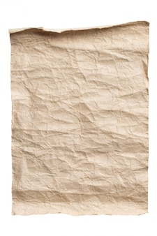 Old brown paper isolated background