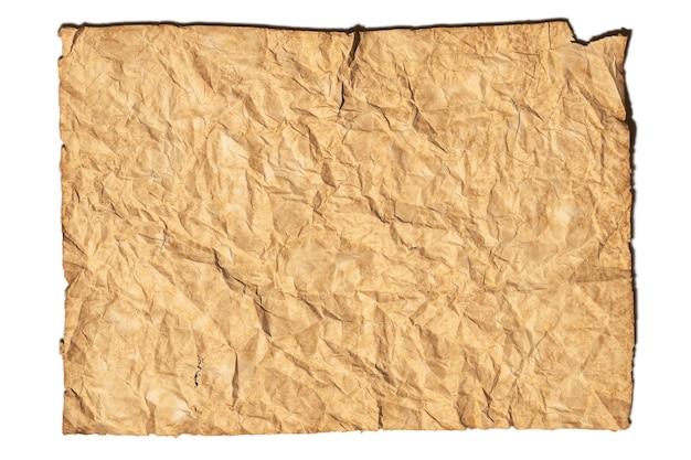 오래 된 갈색 rumpled 종이 질감 배경 종이 시트