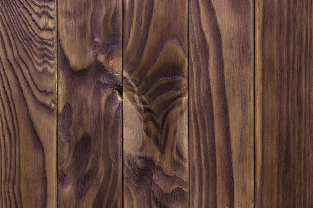 오래 된 갈색 나무 벽, 자세한 배경 사진 텍스처. 나무 판자 울타리를 닫습니다.