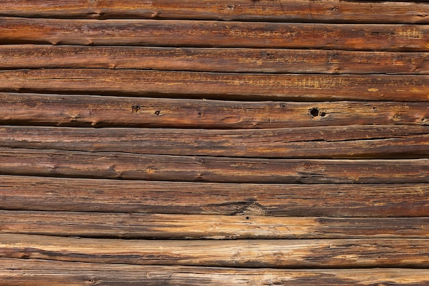 Old brown wooden wall panel background texture