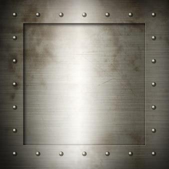 Old brushed steel frame