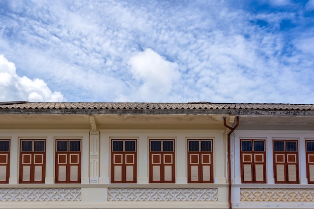 Old building sino portuguese style in phuket