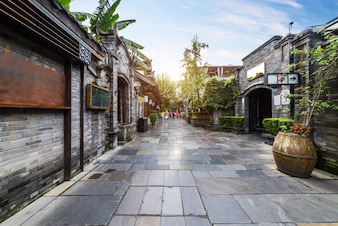 Старые здания в аллее Куан и аллее Чжай, Чэнду, Сычуань