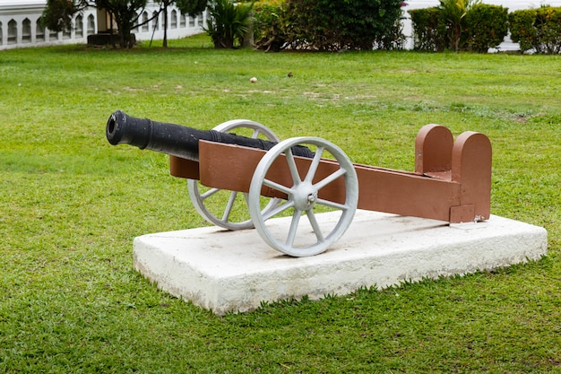 Old cannon in the park