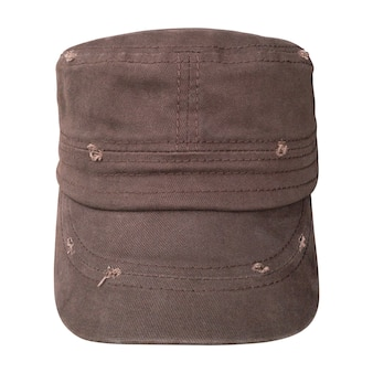 Old cap isolated. baseball caps in military style.