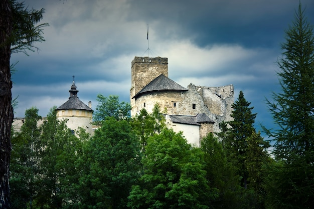 Old castle in the mountians.