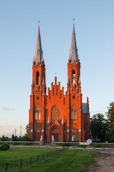 Vidzy의 오래된 가톨릭 교회, 국립 공원 braslau lakes, 벨로루시