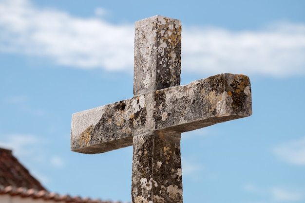Old christian stone cross