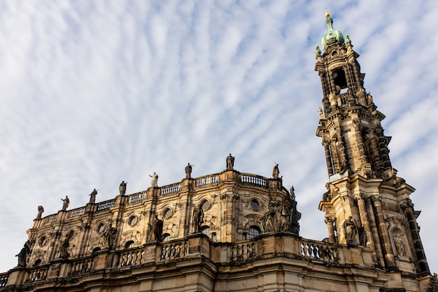 Old church in dresden, germany