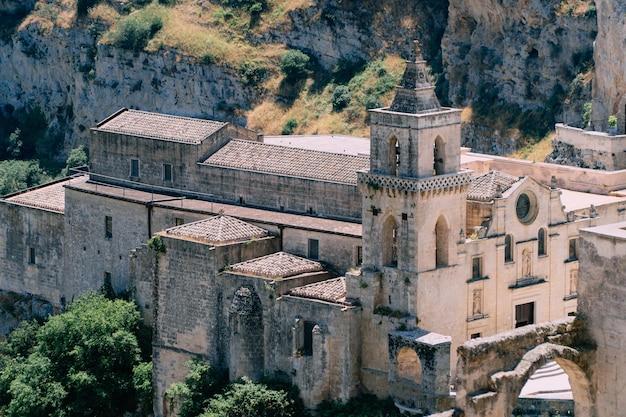 マテーラの古代都市にある古い教会。イタリア