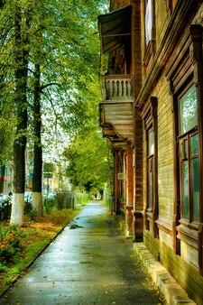 秋の旧市街通り