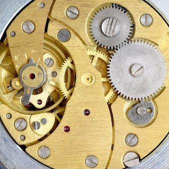 Old clockwork with gears