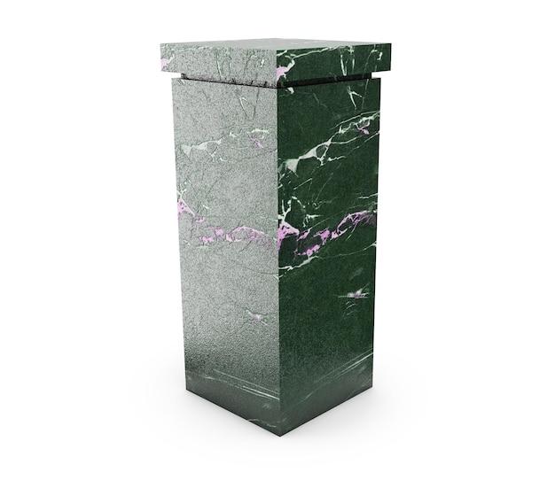 오래된 기둥은 고대 스타일입니다. 고해상도 현실적인 3d 일러스트