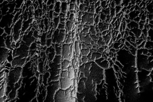 Old cracked black leather texture background