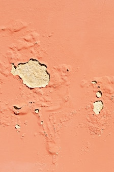 Old cracked terracotta wall. painted texture background. banner