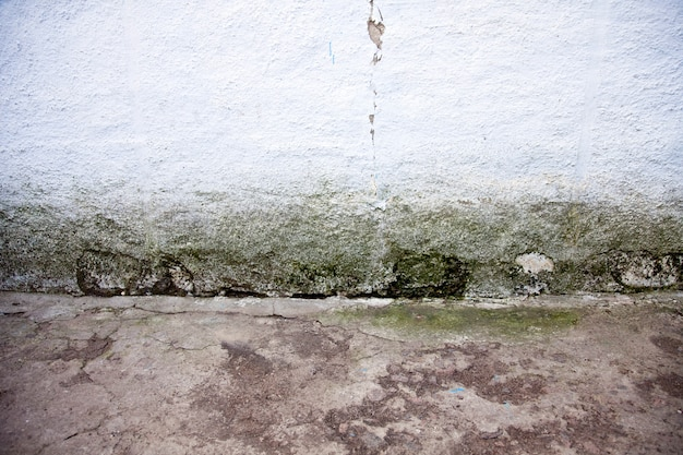 Old cracked wall and floor for background.
