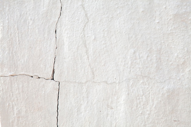 Old cracked white wall for background.