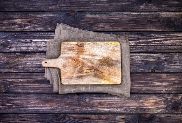 Old cutting board, top view