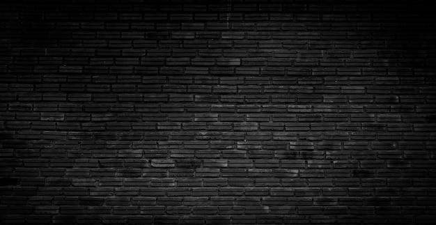 오래 된 어두운 검은 벽돌 벽 질감 디자인 패턴 배경