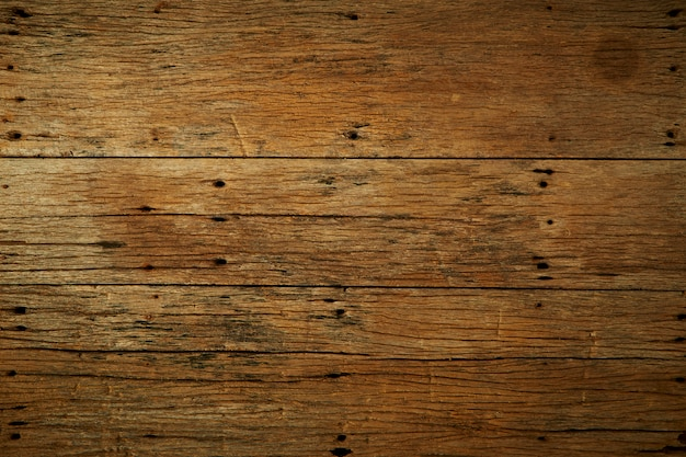 Old dark brown wooden table background