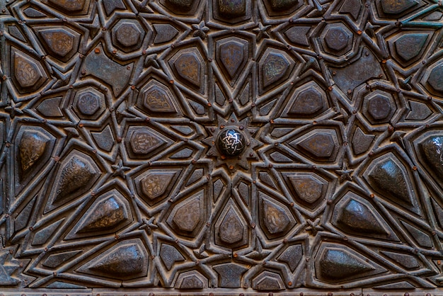 Old decorative islamic wood art background