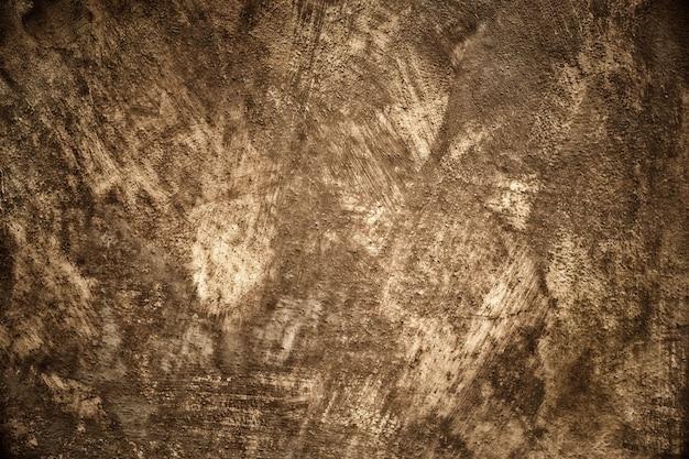 古い汚いセピアコンクリートの壁の背景 Premium写真