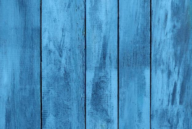 古い汚い木製の明るい青色の背景抽象的な背景上面図コピースペース