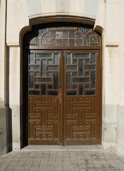 Old door of city of toledo in spain