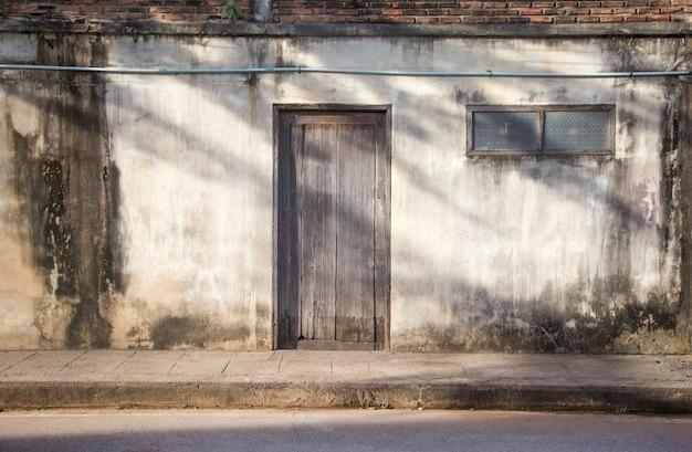 Old door exterior on vintage
