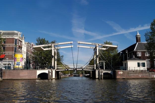 Old drawbridge in amsterdam, netherlands