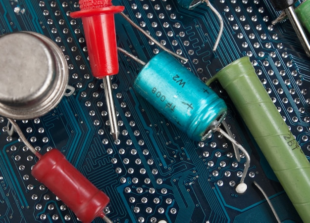 Old electronic components and printed circuit board