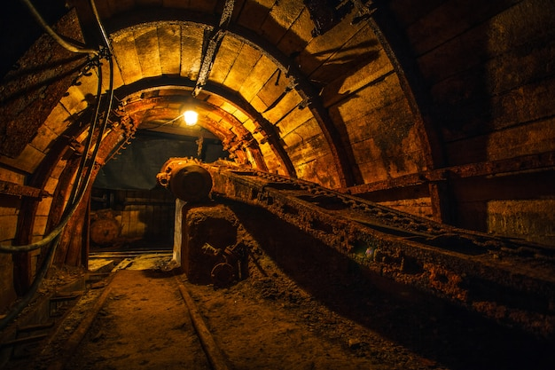 Old equipment in a coal mine